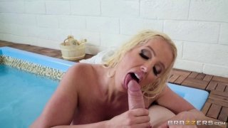 A dirty girl sucks the huge dick of her young friend