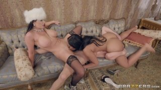 Horny dude nailed awesome whores Romi Rain and Moriah Mills