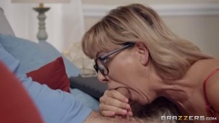 Cherie Deville enjoys riding dick of young hung